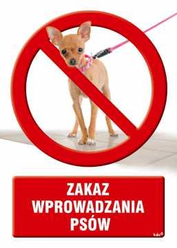 Zakaz wprowadzania psów 2