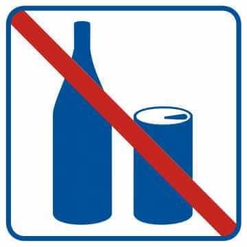 Zakaz spożywania napojów