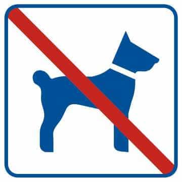 Zakaz wprowadzania psów 3