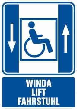 Winda lift fahrstuhl - dźwig osobowy dla niepełnosprawnych