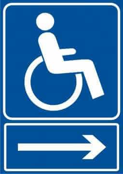 Kierunek drogi dla niepełnosprawnych