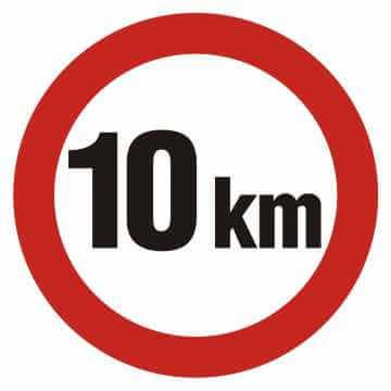 Ograniczenie prędkości 10km