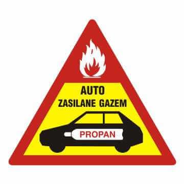Naklejka auto zasilane gazem
