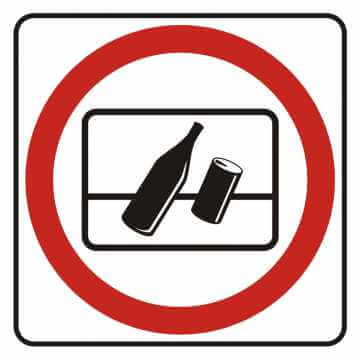 Naklejka zakaz wyrzucania odpadków za okno