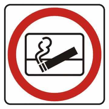 Naklejka zakaz wyrzucania niedopałków za okno
