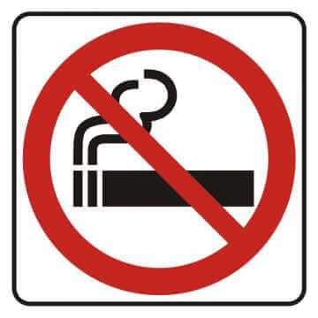 Naklejka zakaz palenia
