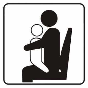 Naklejka miejsce dla osoby z dzieckiem