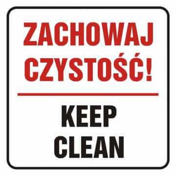 Naklejka zachowaj czystość! Keep klean