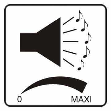 Naklejka regulacja głośności