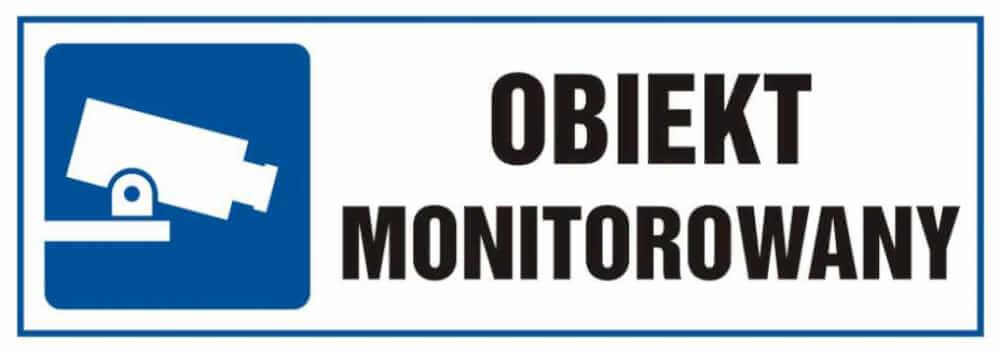 Tabliczka obiekt monitorowany