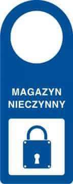Zawieszka na klamkę magazyn nieczynny