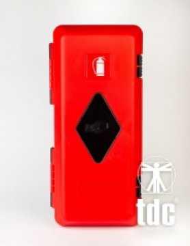 Szafka na gaśnice 4 kg i 6 kg czerwona z okienkiem